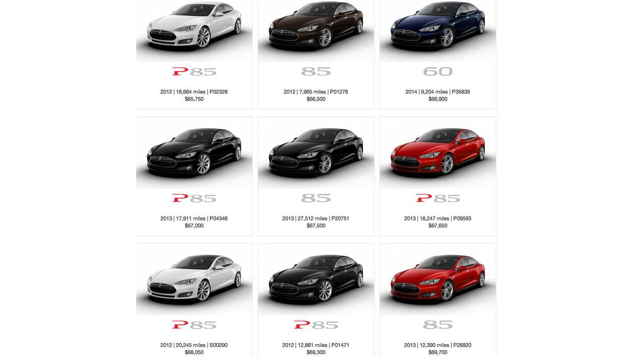 Quite a few CPO Model S' to choose from!