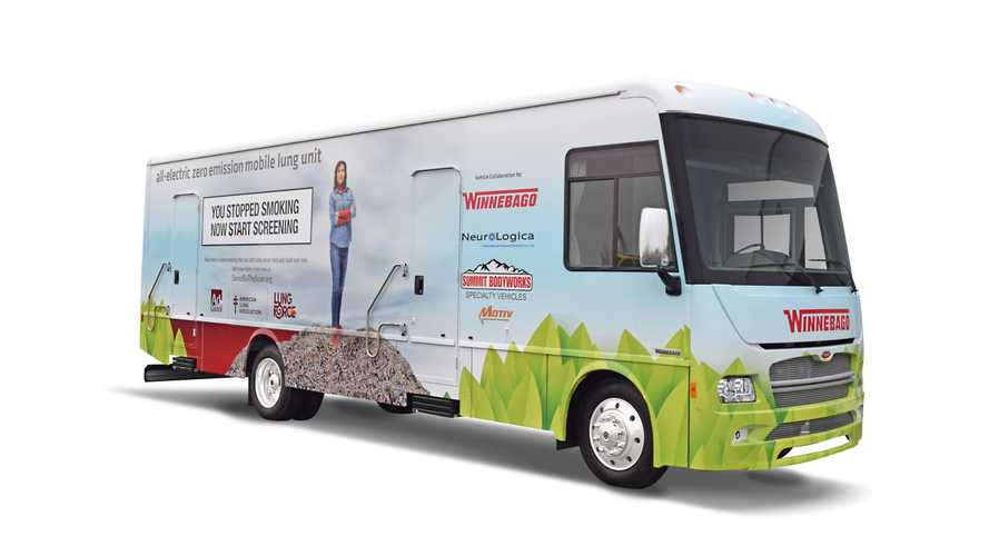 Winnebago Reveals Electric Healthcare RV: Range Over 100 Miles