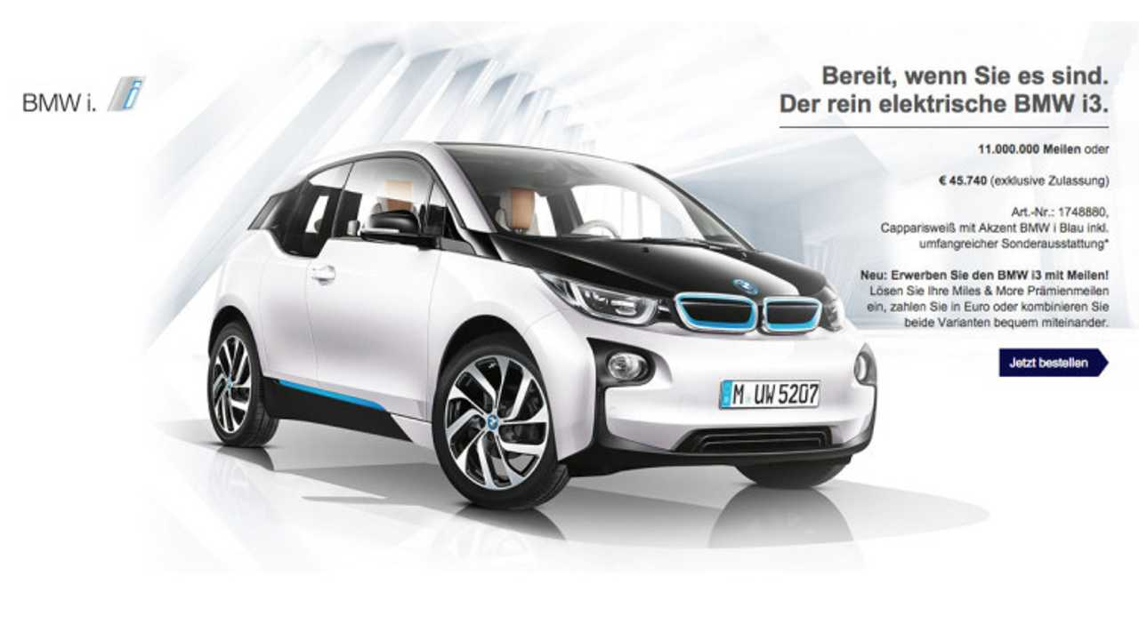 Fly A Lot? Maybe You'll Get A BMW i3 For Free