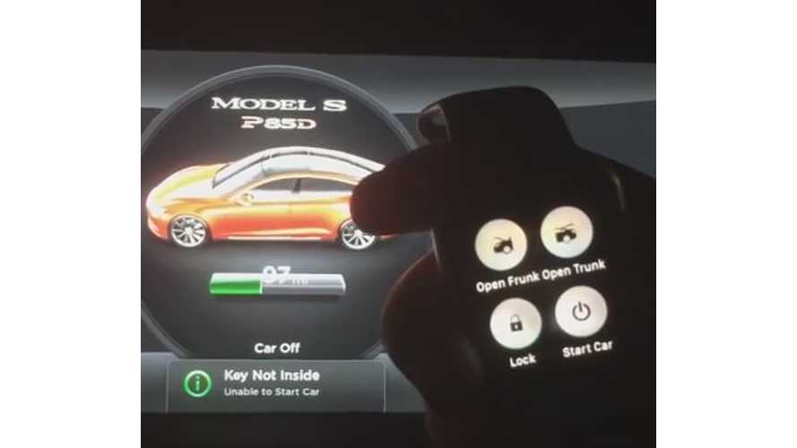 Tesla Model S Controlled By Apple Watch - Video