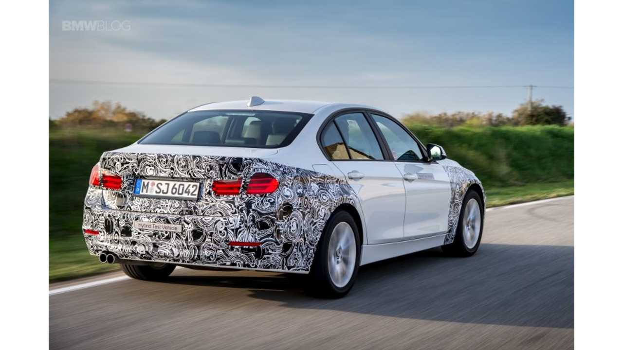 BMW 330e Plug-In Hybrid To Launch In 2016