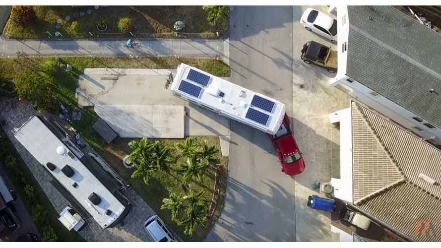 This RV Runs On Solar And A Tesla Model S Battery