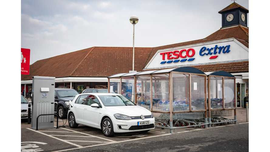 VW Teams With Tesco & Pod Point To Install 2,400 Charging Stalls In UK