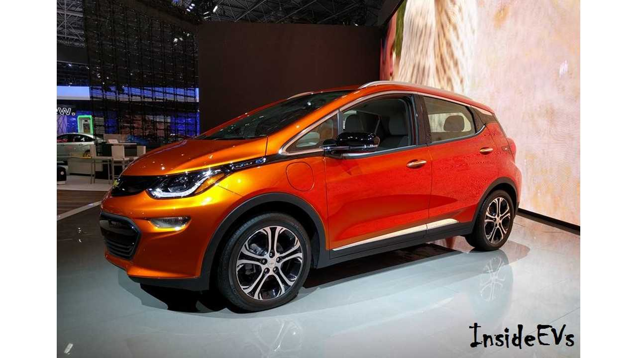 The Chevrolet Bolt EV (shown here from NYIAS 2016)