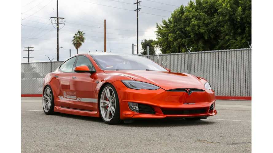 Check Out Unplugged Performance's Refresh Front Fascia Installed On 2014 Tesla Model S - Video