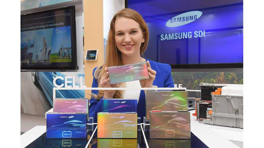 Samsung SDI Battery Tech On Display At NAIAS - 373-Mile Range, 20-Minute Charge