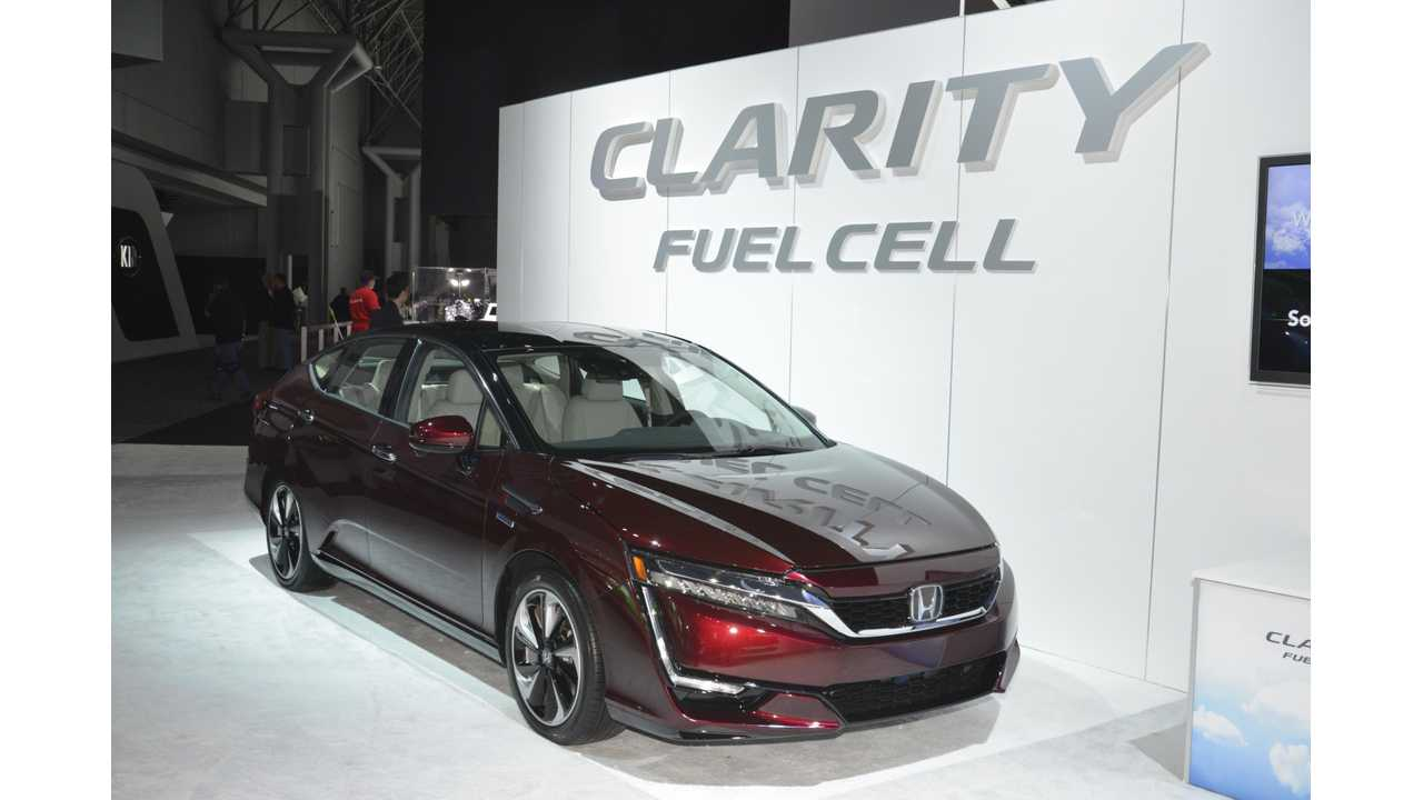 Honda Clarity Fuel Cell At The New York International Auto Show