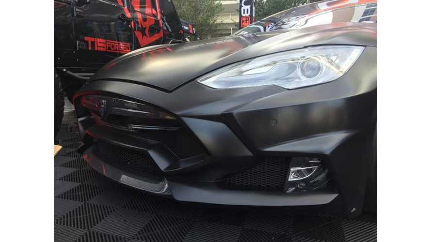 Las Vegas' SEMA Includes Some Crazy Tesla Modifications