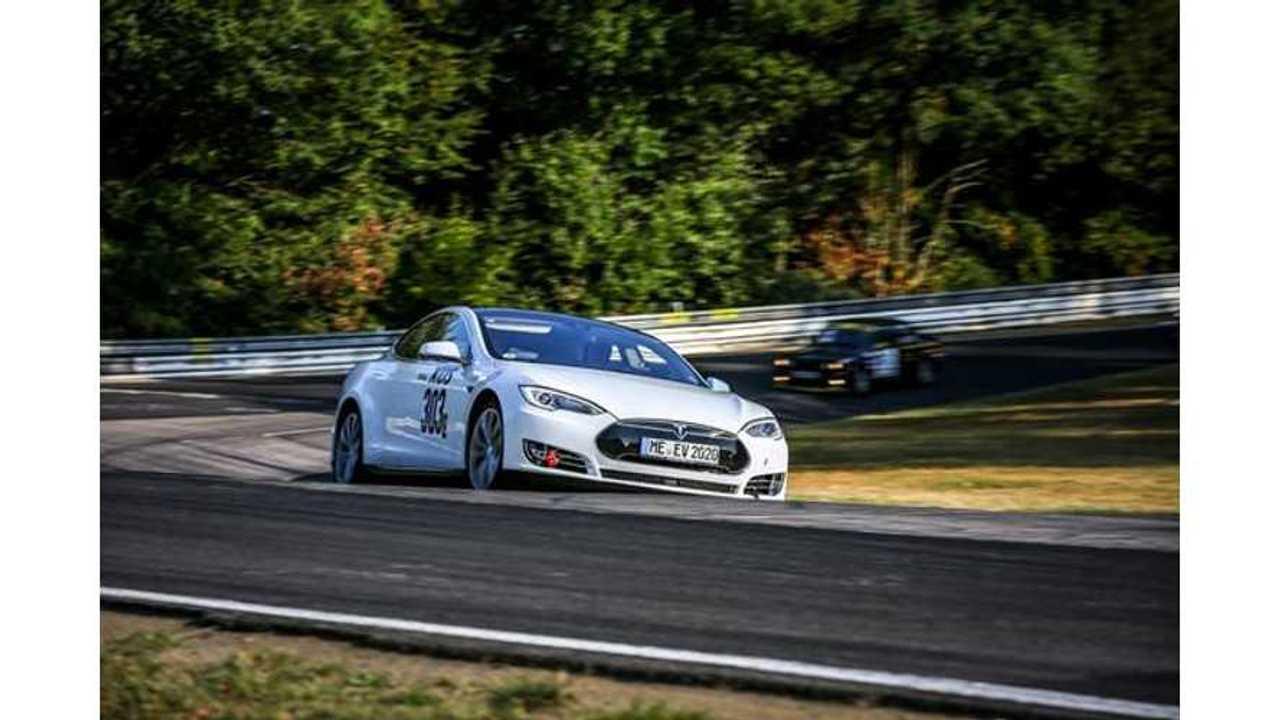 Amateur Drivers Tackle Nürburgring Long Distance In A Tesla Model S