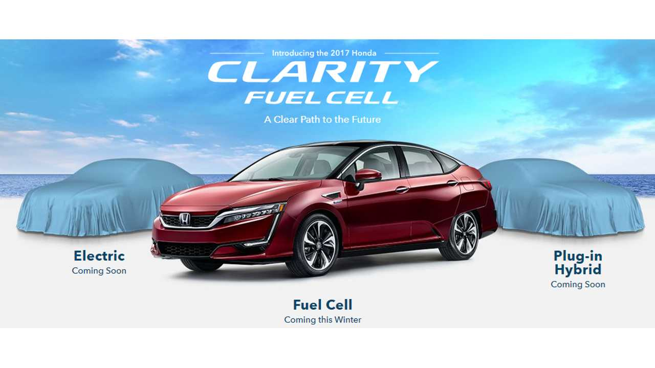 Honda BEV and PHEV to follow Clarity Fuel Cell