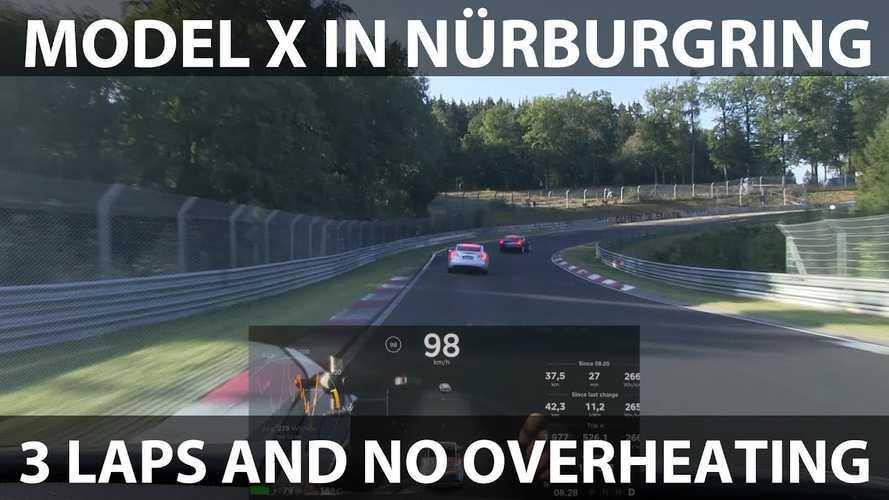 Watch Tesla Model X P90D Lap The Nurburgring