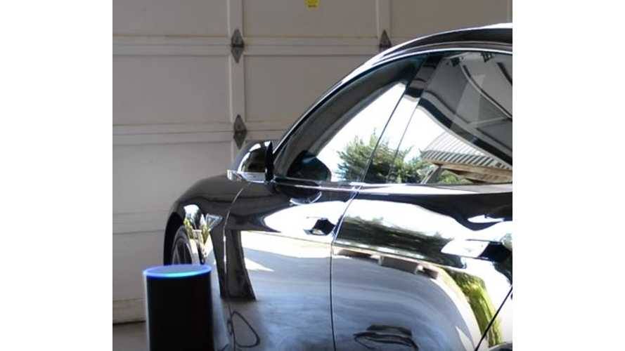 Amazon Echo Controlled Tesla Model S - Video