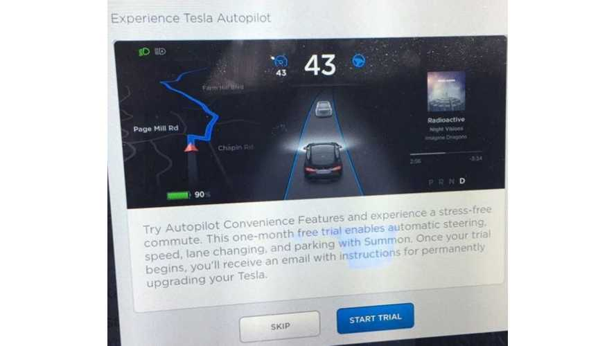 Tesla Offers 1 Month Free Autopilot Trial To Existing Model S/X Owners