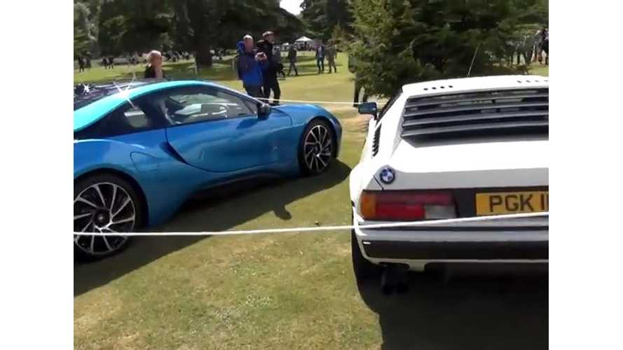 On Display - Supercars Old Versus New Featuring BMW i8, McLaren P1 - Video