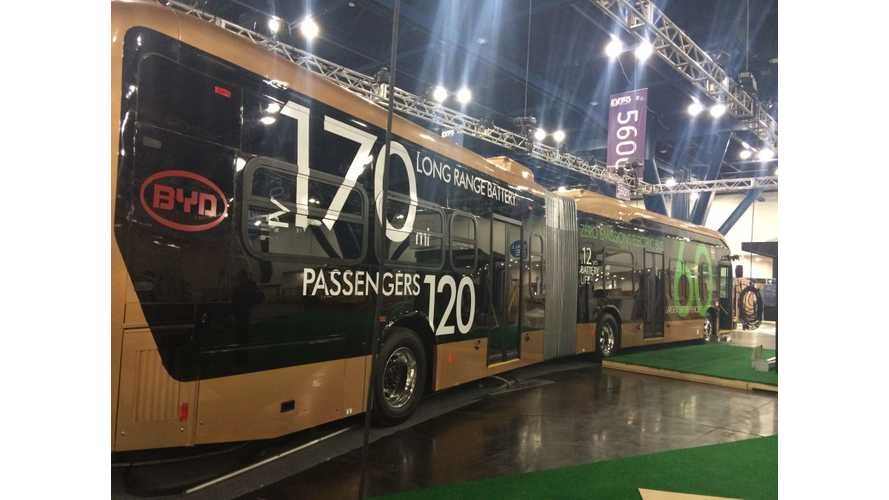 BYD Unveils World's Biggest Electric Bus