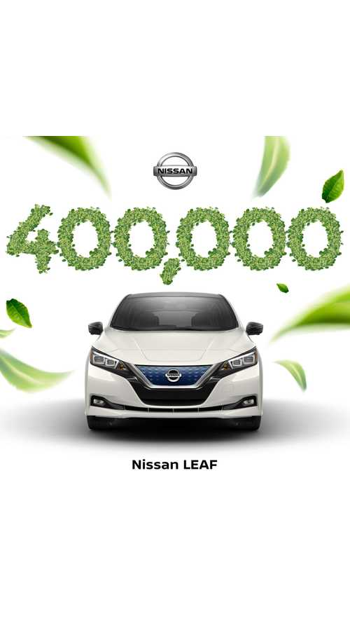 Nissan LEAF Becomes First Electric Car To Hit 400,000 Sales