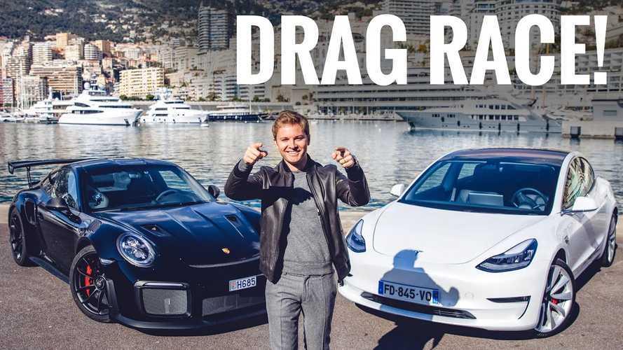 Watch Tesla Model 3 Take On Porsche GT2 RS In Epic Race: Video
