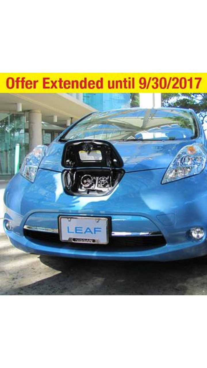 Hawaiian Electric Companies: We're excited to announce Nissan North America's $10,000 rebate offer on the all-electric 2017 LEAF® sedan has been extended through September!