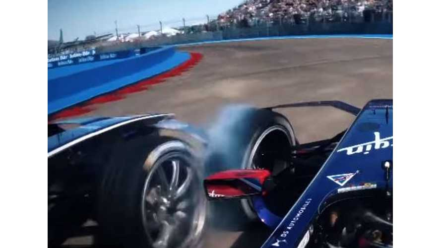 Wheel-To-Wheel (Literally) In Unseen Formula E Racing Footage