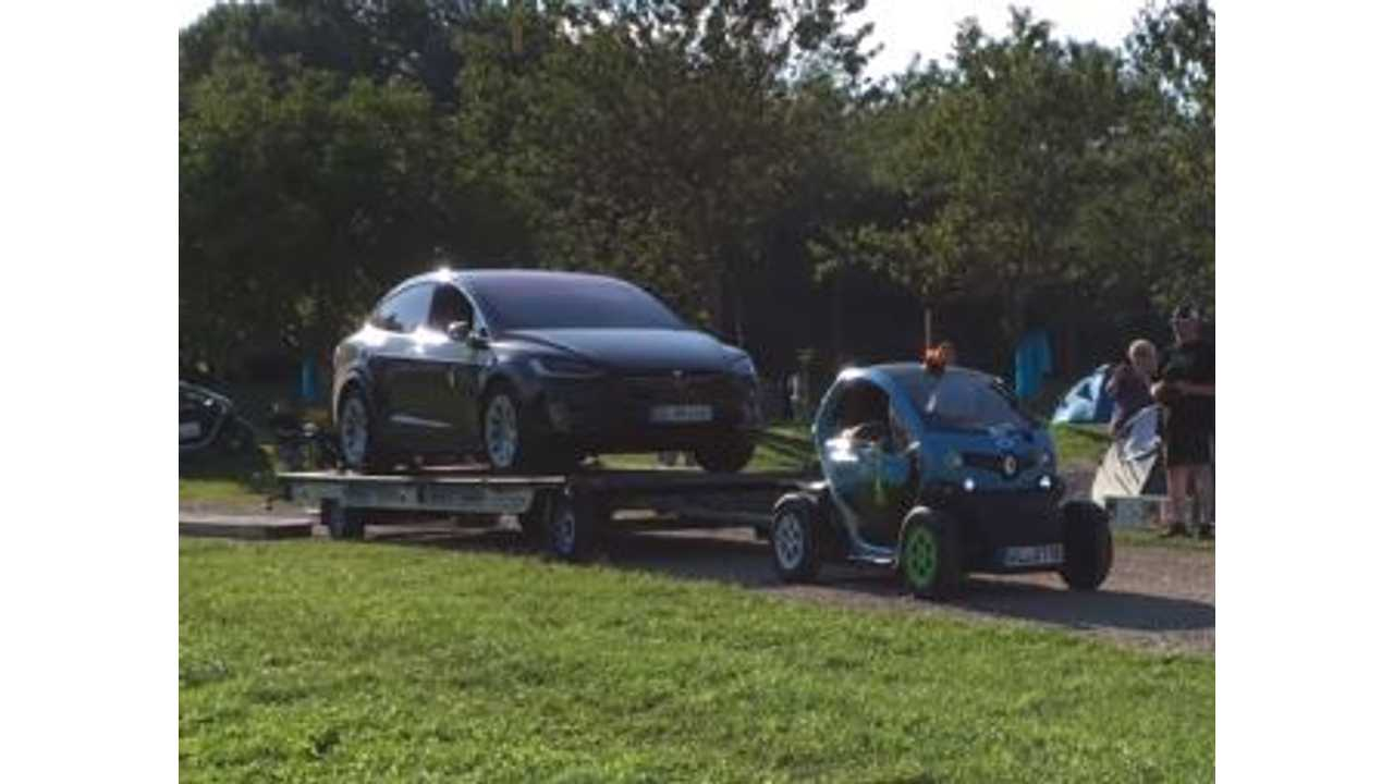 Say What? Renault Twizy Tows Tesla Model X - Video