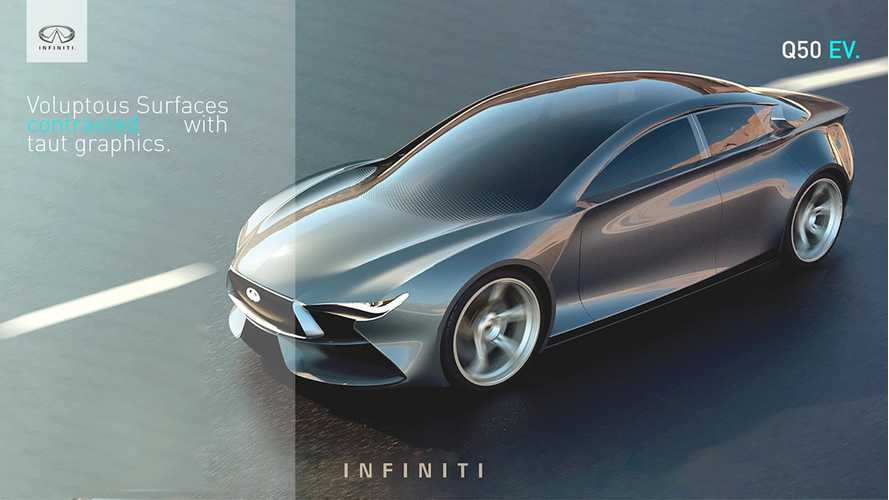 Infiniti Q50 EV Rendered As Hypothetical Tesla Competitor