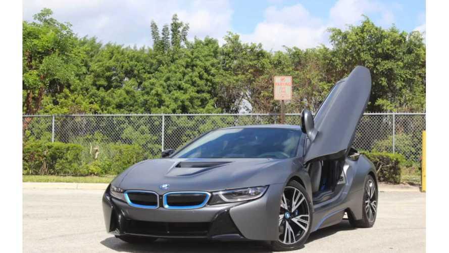 BMW i8 Gets Matte Black Wrap - Video