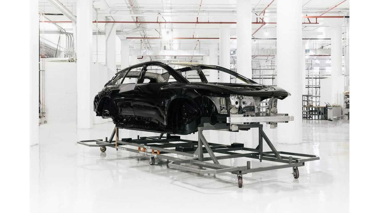 First Complete FF 91 Body-In-White(BiW) For Assembly Starts Build Path At Faraday Future Hanford Facility