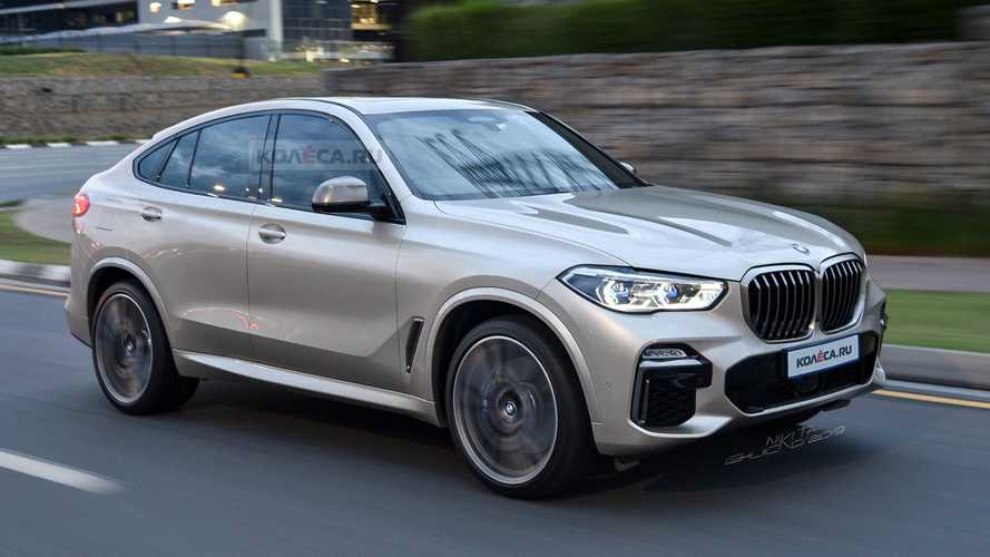 New BMW X6 loses all camo in speculative render