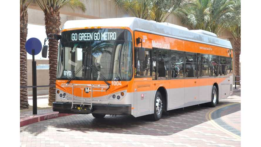 Los Angeles Metro Authority To Buy 95 Electric Buses From BYD, New Flyer