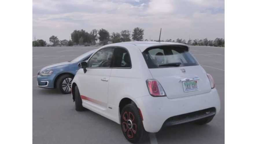Volkswagen e-Golf Versus Fiat 500e - Video Comparison