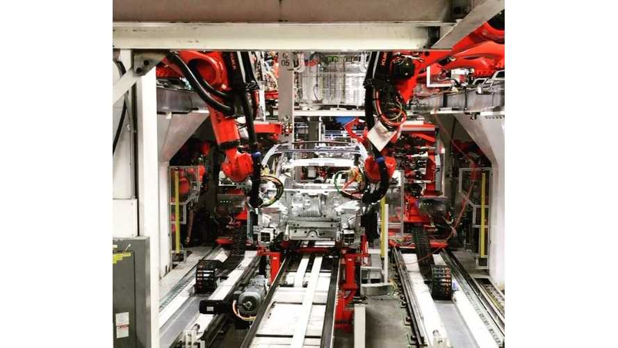 Tesla Model 3 Production Currently At 1/10th Full Speed - Video
