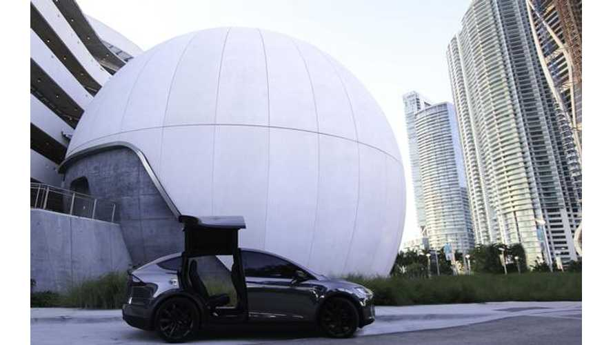 Check Out This Stunning Black Chrome Tesla Model X 100D