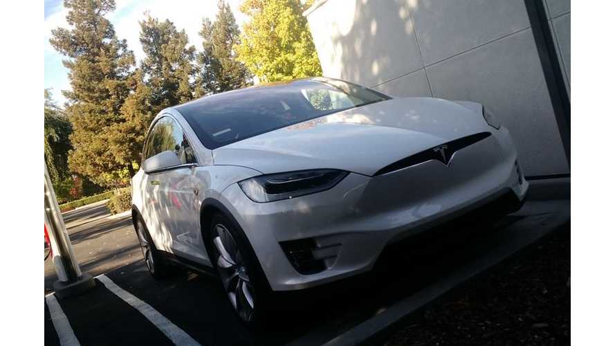 Tesla Model X #8 Spotted Charging In The Wild