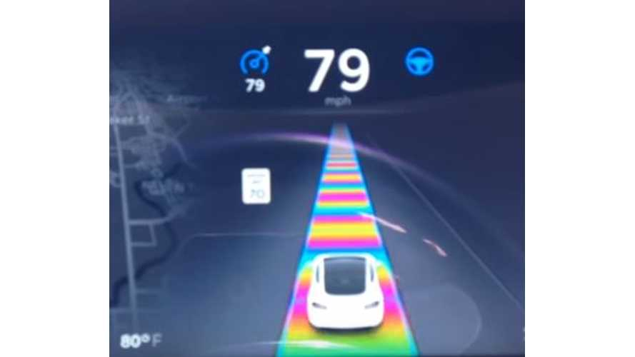 Tesla's Newest Easter Egg Brings Forth A Psychedelic Cowbell Road - Video