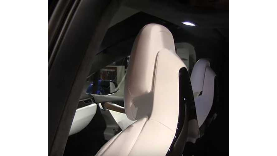 Tesla Model X Headrests Automatically Adjust Based On Seat Location - Video