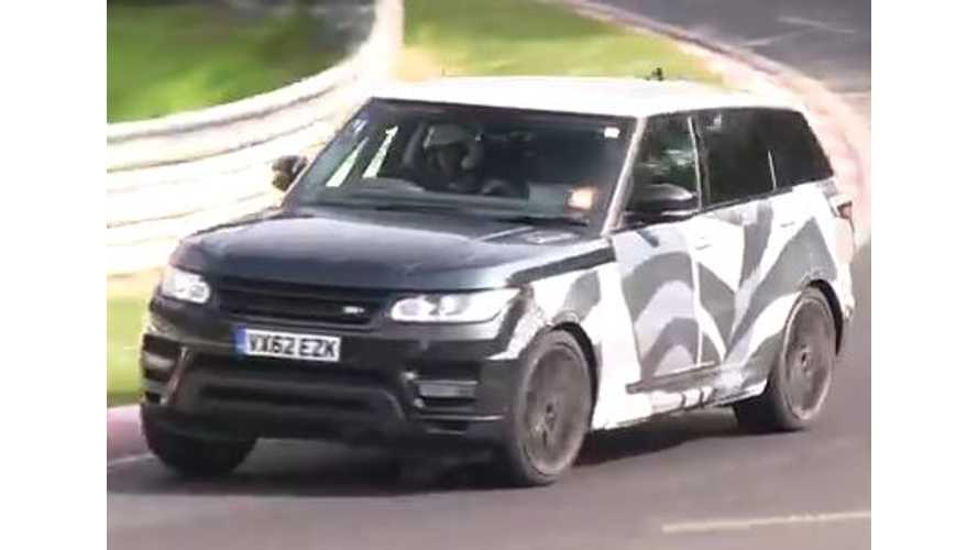 2015 Range Rover Plug-In Hybrid Spied Testing - Video