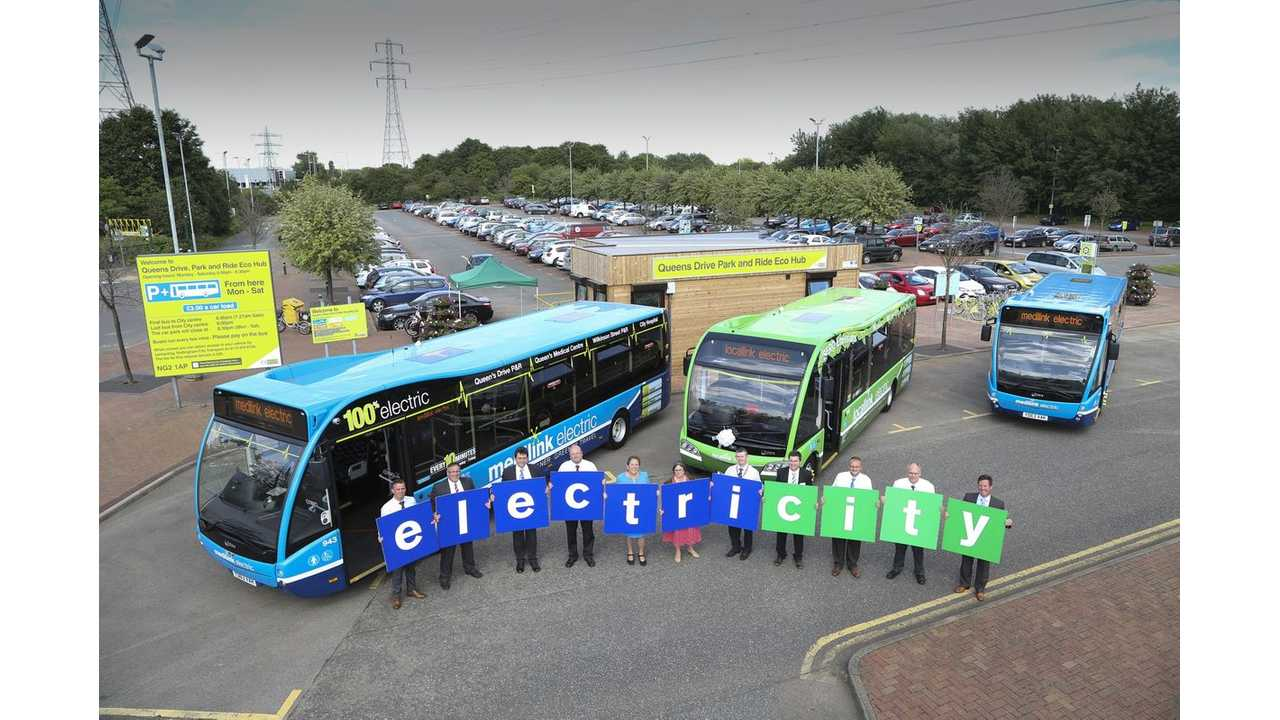 Nottingham's Electric Dream Is To Have 50 Electric Buses By September 2015