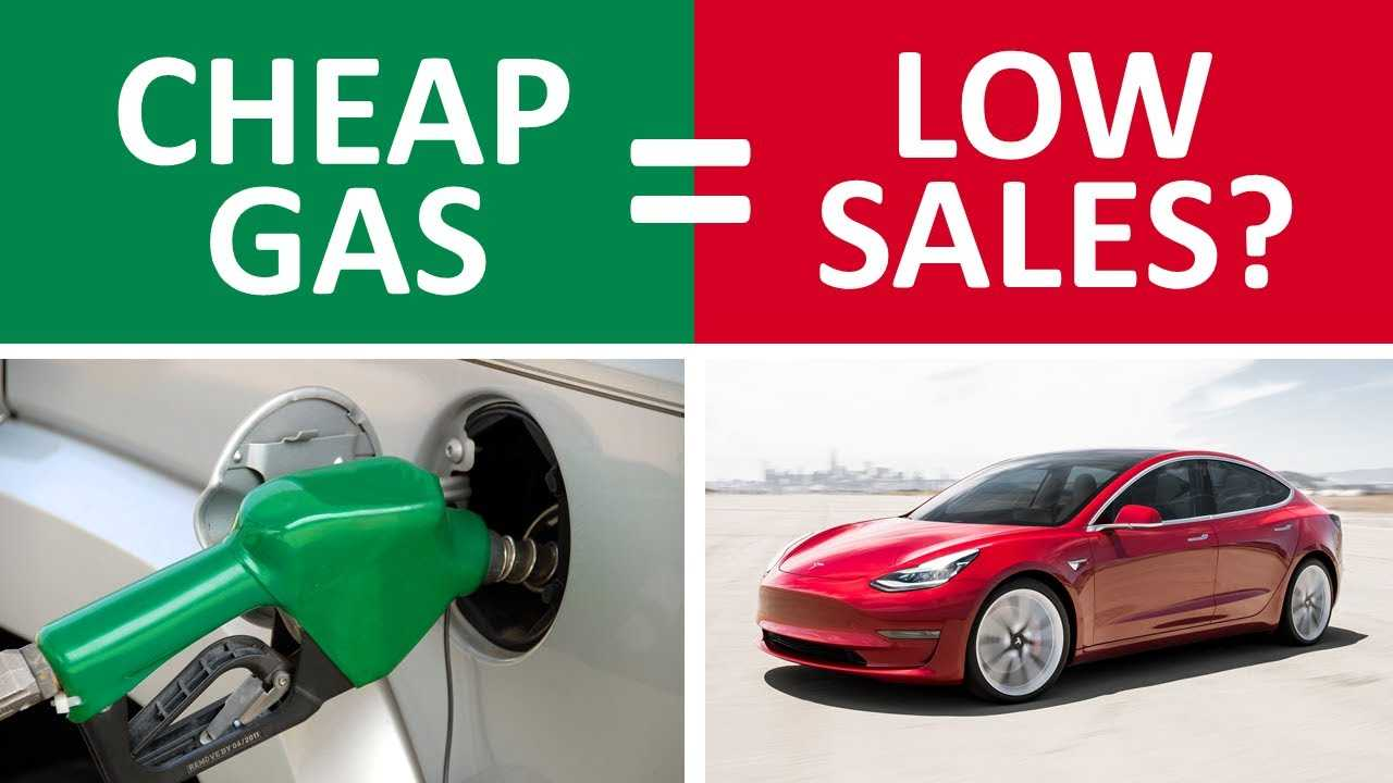 cheap gas low tesla sales