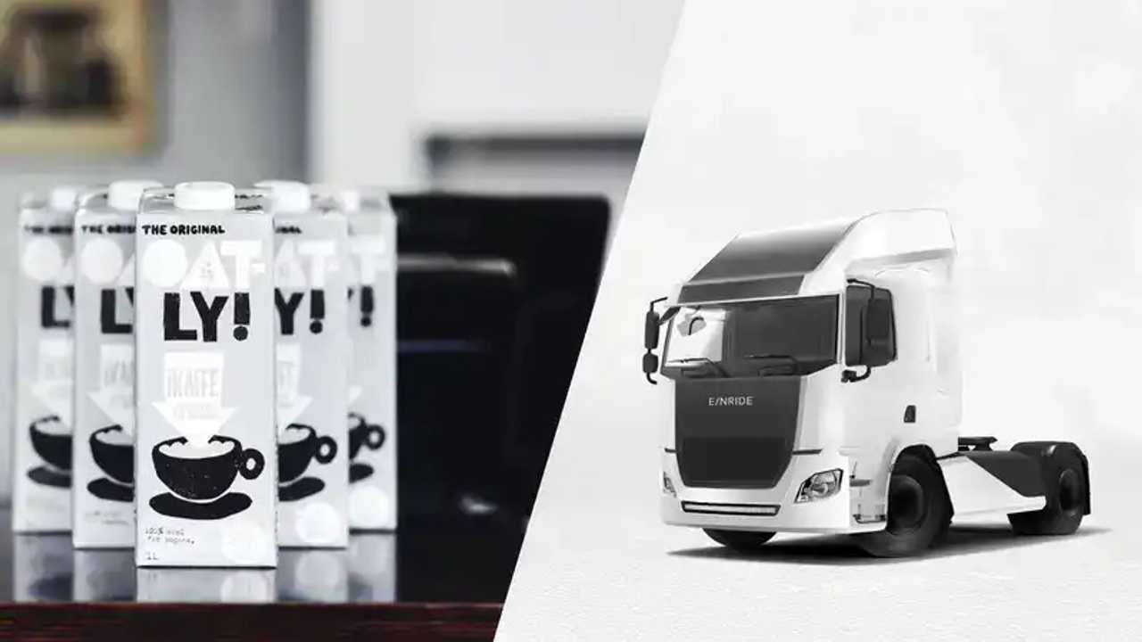 Oatly and Einride team up for sustainable transport in Sweden with electric trucks