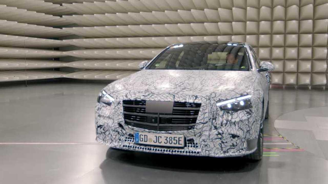 2021 Mercedes S-Class screenshot from teaser video