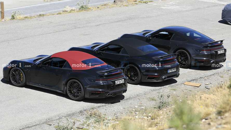 New Porsche 911 Turbo Trio Spied Including Non-S Cabrio