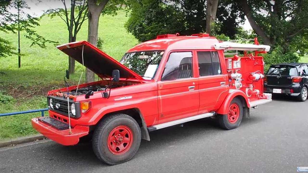Пожарная машина на базе Toyota Land Cruiser