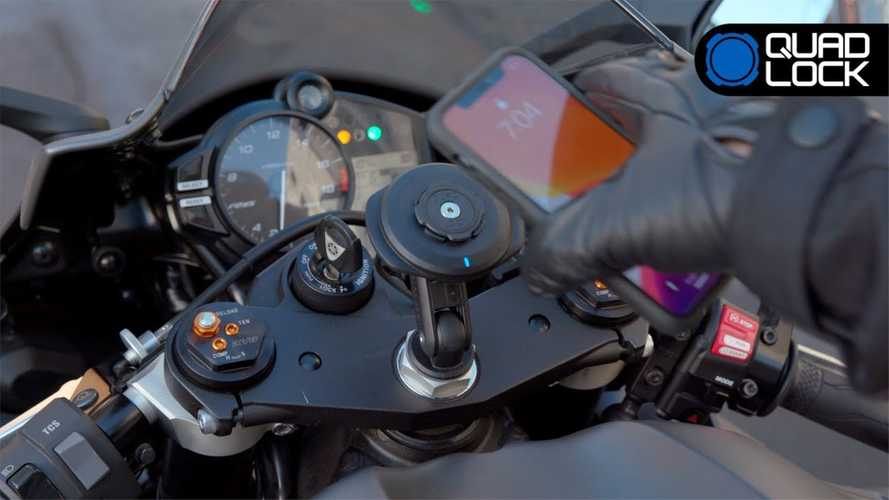 Quad Lock Now Offers Wireless Charging For Handlebar Smart Phone Mounts