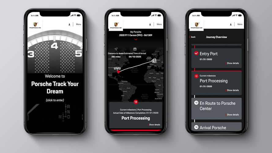 Porsche online tracking service