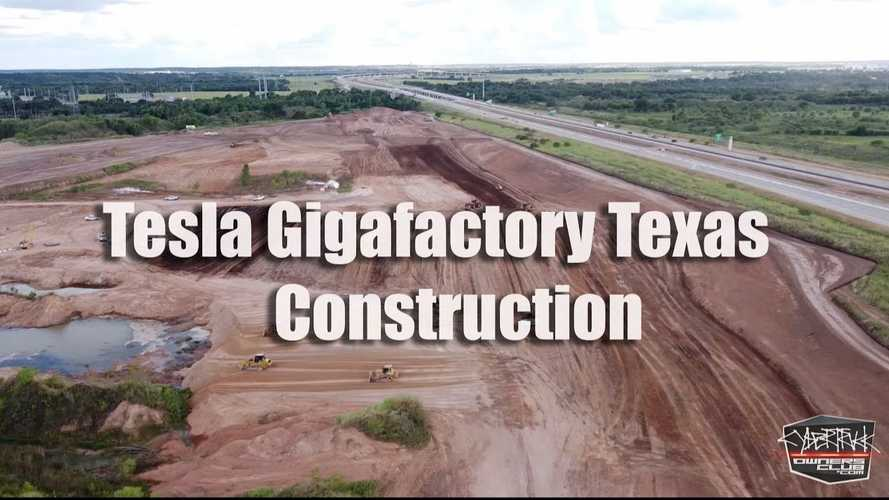 First Drone Footages Of Tesla Giga Austin Emerges