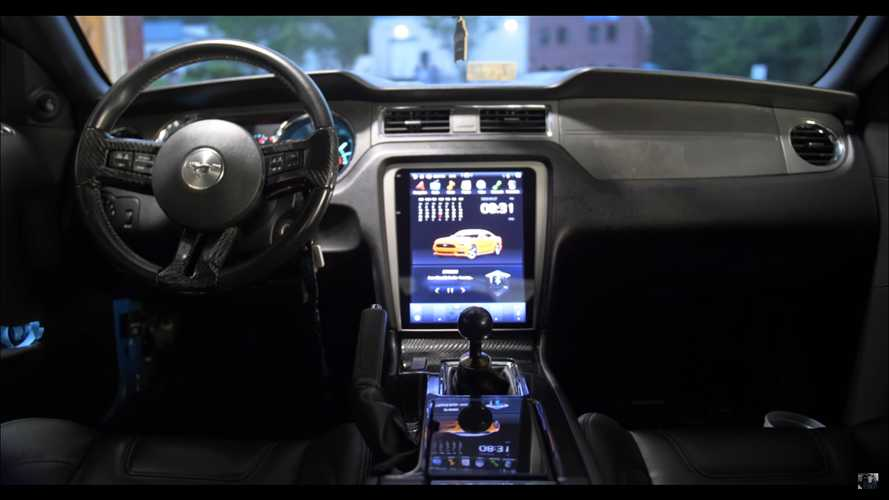 2013 Mustang GT Impersonates Tesla, Gets Giant Touchscreen Upgrade