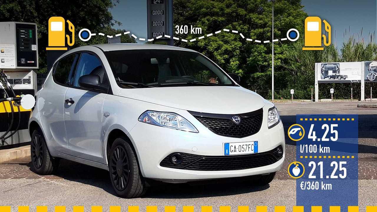 Lancia Ypsilon mild hybrid, la prova consumi
