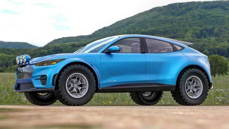 Ford Mustang Mach-E renderings explore an electric rally SUV