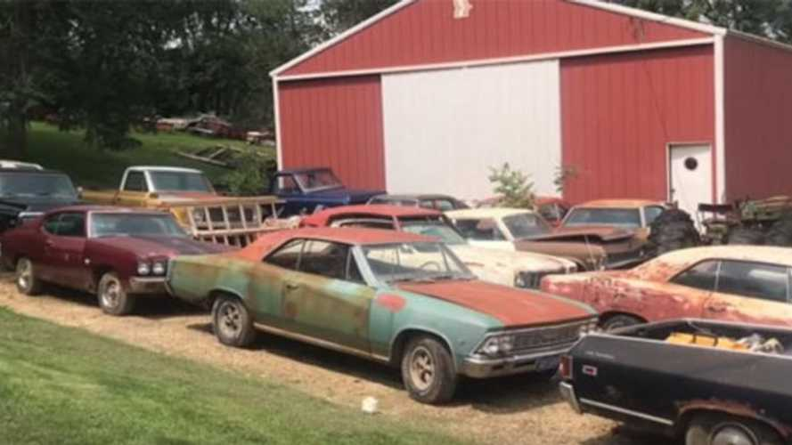 Video: Huge barn find of American muscle cars unearthed in Iowa