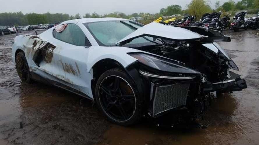 Are You Brave Enough To Bid On This Wrecked 2020 Chevy Corvette C8?